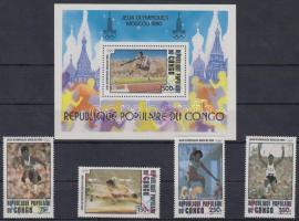 1980 Nyári olimpia, 1980 sor Mi 726-729 + blokk 22