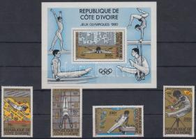 1980 Nyári olimpia, 1980 sor Mi 649-652 + blokk 16