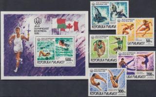 1976 Nyári olimpia sor Mi 775-779 + blokk 10