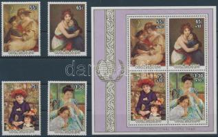 1985 Nemzetközi ifjúsági év - Festmények sor Mi 1055-1058 + blokk Mi 155