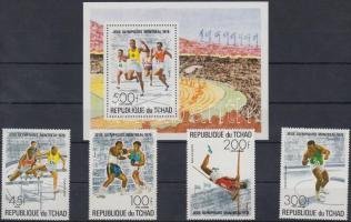 1976 Nyári olimpia sor Mi 742-745 + blokk 65