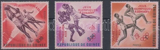 Olympic Games Organizing Committee set with red overprint, Olimpiát Előkészítő Bizottság sor piros felülnyomással