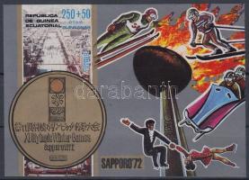 1972 Téli olimpia vágott blokk Mi 4