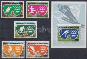 1975 Téli olimpia sor Mi 603-607 + blokk Mi 39