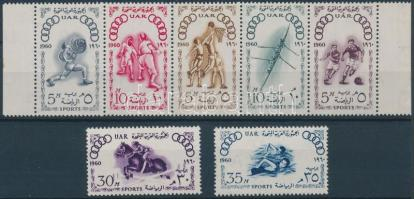 1960 Nyári olimpia, Róma sor 5-ös csíkkal Mi 80-86
