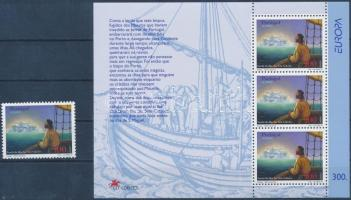 Europa CEPT myths and legends stamp + block, Europa CEPT mondák és legendák bélyeg + blokk