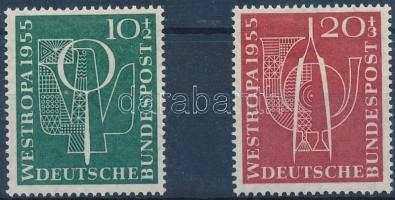 1955 Westropa nemzetközi bélyegkiállítás sor Mi 217-218