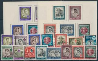1957 Cserkészet sor Mi 1126-1140 + blokk 43-44