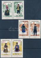 1966 Népviseletek (II) 3 pár (sor) Mi 1214-1219