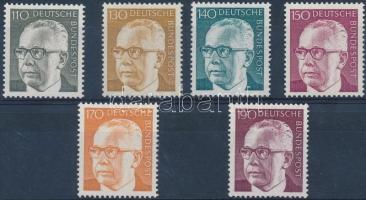 1972/1973 Forgalmi: Gustav Heinemann elnök sor Mi 727-732