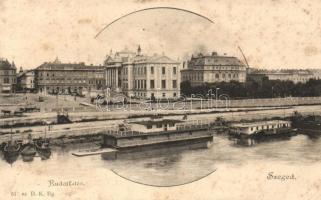 Szeged, Rudolf tér, rakpart, csónakok