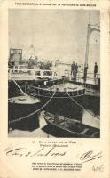Tour DEurope de M. Cornier sur La Populaire de Dion-Bouton - Bac a vapeur sur la Waal Nimegue / Europe trip on a Dion-Bouton, steam ferry