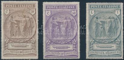1923 Jóléti Alap sor Mi 183-185