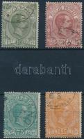 1884 Csomagszállító bélyeg 4 klf érték Mi 1 + 3-5