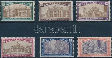 1924 Szent év 1925 sor Mi 206-211
