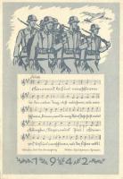 1942 German WWII military propaganda with sheet music, 1942 II. világháborús német katonai propaganda kottával