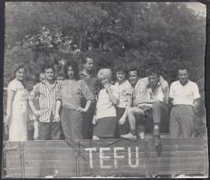 cca 1950-60 Szocialista vállalatok felvonulásai, csoportképei, különböző méretben. 8-12cm, a sarka hiányzik, 12x17cm, 17,5x20cm