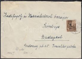 1946 (6.díjszabás) Távolsági levél Betűs (I) Tl.l./10f bérmentesítéssel