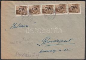 1946 (7. díjszabás) Távolsági levél Betűs (I) 6xTl.l./10f bérmentesítéssel