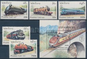 1991 ESPAMER nemzetközi bélyegkiállítás sor Mi 1270-1274 + blokk Mi 139
