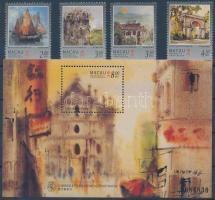1997 Makaói látképek sor Mi 899-902 + sorszámozott blokk Mi 43