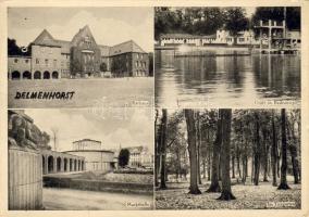 Delmenhorst town hall, swimming pool, market hall, zoo, Delmenhorst városháza, úszómedence, piaccsarnok, álatkert