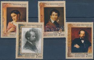 2007 Orest Kiprenskij és Pawel Tschistjakow festők születésének évfordulói 2 sor Mi 1397-1398 + 1409-1410