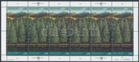 Saving the Forests minisheet, Az erdők megmentése kisív