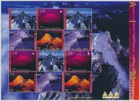 International Year of the mountains, photos minisheet, A hegyek nemzetközi éve, fotók kisív