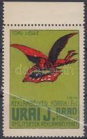 1914 Urai Sándor bélyegkereskedése Arad reklámbélyeg RR!