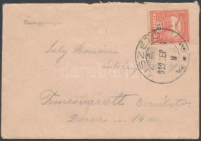 1910 Távolsági levél KISZETÓ - Temesvár