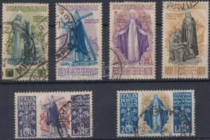 1948 Siena-i Szent Katalin sor Mi 740-745