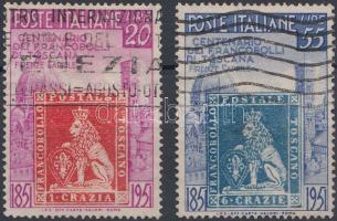 1951 100 éves a Toscana-i bélyeg sor Mi 826-827