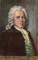 Bach, B.K.W.I. Serie 874/7. artist signed, Bach, B.K.W.I. Serie 874/7., művész aláírásával