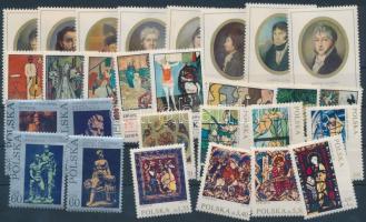 1970-1971 4 klf Festmény sor, 1970-1971 4 Paintings set