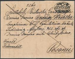 1836 Ajánlott Franco / registered SZEGEDIN - Posonii