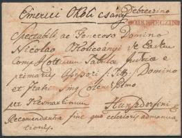 1816 Portós levél / unpaid cover piros / red v DEBRECZIN - Hunzdorfini