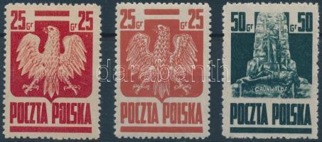 1944 Forgalmi sor Mi 383 a+b + 384