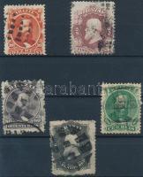 1866 Forgalmi bélyeg sor 5 klf érték Mi 23-28