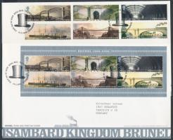 2006 Isambard Kingdom Brunel sor Mi 2385-2390 + blokk 30 2 FDC