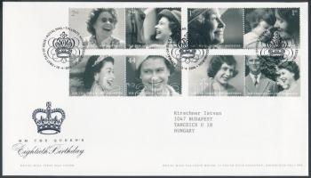 2006 II. Erzsébet 80. születésnapja 4 pár Mi 2400-2407 FDC