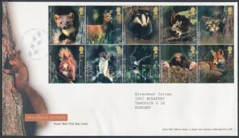 2004 Erdei állatok tízestömb Mi 2236-2245 FDC