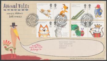 2006 Gyermek könyvek állat figurái 4 pár Mi 2366-2373 FDC