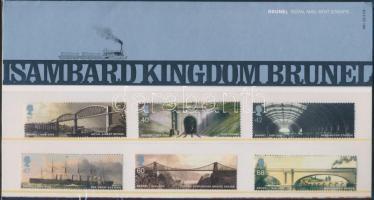 2006 Isambard Kingdom Brunel sor Mi 2385-2390 dísz csomagolásban