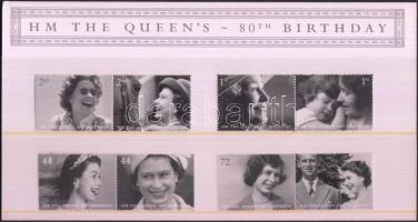 2006 II. Erzsébet 80. születésnapja 4 pár Mi 2400-2407 díszcsomagolásban