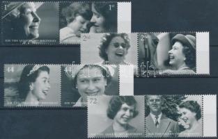 2006 II. Erzsébet 80. születésnapja 4 ívszéli pár Mi 2400-2407