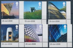 2006 Modern építészet ívsarki sor Mi 2414-2419