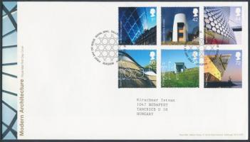 2006 Modern építészet sor Mi 2414-2419 FDC-n