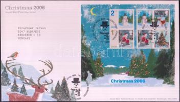 2006 Karácsony blokk Mi 32 + sor Mi 2463I-2468I 2 FDC-n