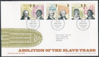 2007 A rabszolga kereskedelem eltörlése 3 pár Mi 2508-2513 FDC-n